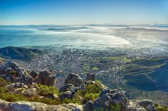 Cape Town seen from Table Mountain, South Africa. Oh The Places You'll Go, Places To Travel, Places To Visit, Slimming World, Foto Blog, Cape Town South Africa, Most Beautiful Cities, Beautiful Scenery, Landscape Pictures