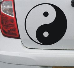 Yin and Yang #1 - vinyl decal graphic sticker for car bike boat and home