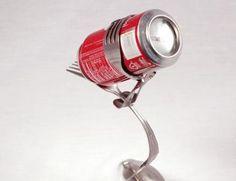 Soda Can Holder- Fork by forkedupart for $25.00