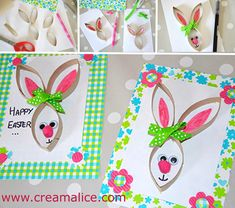 Créamalice DiY and Craft Easter Activities, Easter Crafts For Kids, Art Activities, Paper Bunny, Toilet Paper Roll Crafts, Spring Crafts, Happy Easter, Diy And Crafts, Carton Diy