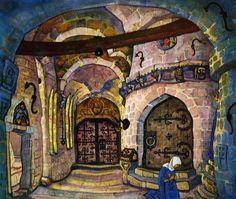 nocnitsa:  In the Monastery, Nikolai Roerich.