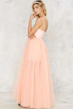 Nasty Gal Blush Hour Tulle Dress - Clothes | Nasty Gal Collection | Best Sellers | Going Out | Fit-n-Flare | Dresses | Anti-Prom | All Party