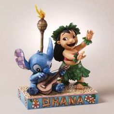 'Ohana Means Family' - Lilo and Stitch figurine (Jim Shore) from our Jim Shore Disney Traditions collection