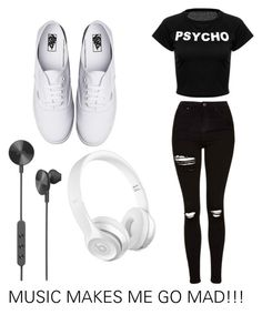 """""""MUSIC MAKES ME GO MAD!!!"""" by style-me-girl ❤ liked on Polyvore featuring Topshop, Vans and i.am+"""
