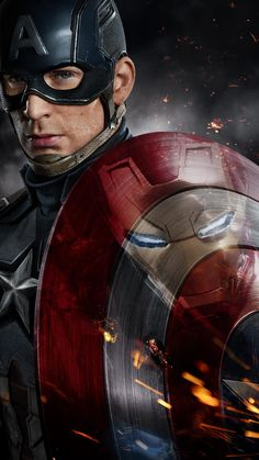 """Captain America (Chris Evans) and Iron Man (Robert Downey Jr.) face off in the first epic trailer for Marvel's """"Captain America: Civil War,"""" in theaters May Marvel Dc Comics, Marvel Avengers, Films Marvel, Marvel Heroes, Poster Marvel, Marvel Art, Marvel Movie Posters, Captain Marvel, Captain America Poster"""