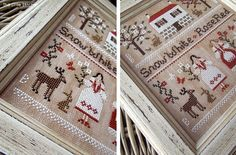 Snow White and Rose Red - A Grimm's Fairytale - PDF DIGITAL Cross Stitch Pattern by THE LITTLE STITCHER