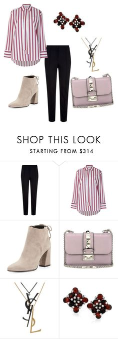 """""""Untitled #14"""" by shvidka-liza ❤ liked on Polyvore featuring Escada Sport, MSGM, Stuart Weitzman, Valentino and Yves Saint Laurent"""