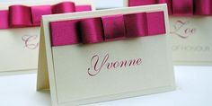 Wedding Name Place Cards | Handmade by Wedding Invitation Boutique | Belle