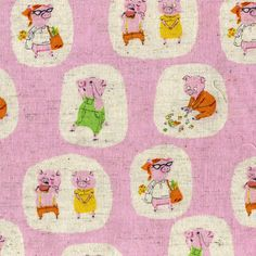 Nursery Versery Fabric by Heather Ross. My daughter would love the piggies!