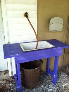 Outdoor veggie and handwashing station