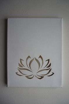 Lotus flower cutout on blank canvas with twinkle lights behind White Lotus Flower, Lotus Flowers, Black Flowers, Lotus Flower Design, Cut Canvas, Blank Canvas, Paper Art, Paper Crafts, Watercolor Flower