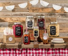 Move over, jams and jellies! Mason jars are now being filled with a variety of treats, from candy and snacks to ice-cold drinks. And with the addition of chalkboard-style labels, plain jars become Pinterest-worthy!