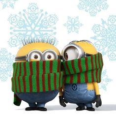 When you combine a festive Holiday like Christmas with the silliness of the minions, you get a cool mix. We have minion pictures that celebrate Christmas. Amor Minions, Cute Minions, Minions Despicable Me, Minions Quotes, Minion Sayings, Minions 2014, Citation Minion, Image Minions, Minion Humour