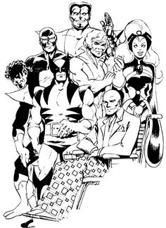 John Byrne, comic artist extraordinaire! The first comic book I bought in my teens was an X-men illustrated by Byrne. I've been a fan ever since.