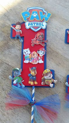 inch Paw Patrol centerpiece Paw Patrol by SilviasPartyDecor Paw Patrol Birthday Theme, Birthday Party At Park, Outdoor Birthday, Baby Boy 1st Birthday, Paw Patrol Cartoon, Paw Patrol Party Decorations, Party Photo Frame, Paw Patrol Cake Toppers, Puppy Party
