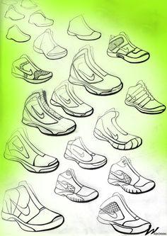 Nike sketching by Jeff Waskowiak, 2012