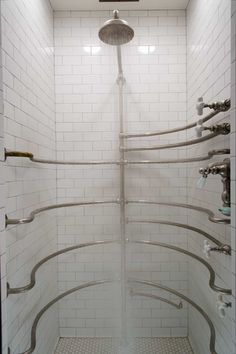 The 1914 ribcage shower required dismantling and a complete replumbing, but once again delivers a strong and refreshing spray.