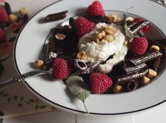 Chocolate Pasta with Sage Browned Butter Sauce and Whipped Ricotta - The Girl in the Little Red Kitchen Ricotta Dessert, Dessert Pasta, Dessert For Dinner, Chocolate Pasta, Dessert Recipes, Desserts, Dinner Recipes, Homemade Pasta, Butter Sauce