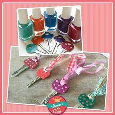 Llaves decoradas con esmalte de uñas.