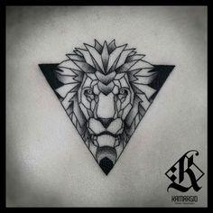geometric tiger tattoo - Google Search