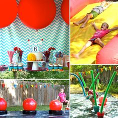 A Wet and Wild Wipeout Party - www.lilsugar.com