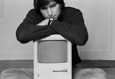 Contemplative Steve and Macintosh Norman Seeff photo 1984