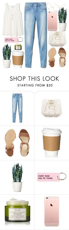 """""""Every Rose Has it's Thorn"""" by sprinklesanddonuts ❤ liked on Polyvore featuring Gap, Nine West, Various Projects, Fresh and Full Tilt"""