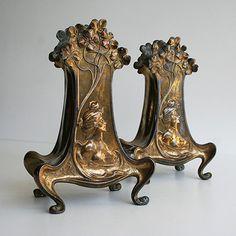 Vases réalisés par Claude Bonnefond - sculpteur Art Nouveau