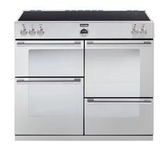 STOVES Sterling 1000Ei Electric Induction Range Cooker - Stainless Steel - £1629 induction hob for quick heat, super easy cleaning and modern look.