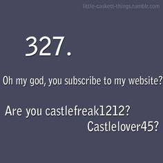 Castle to Beckett Castle Abc, Castle Tv Series, Castle Tv Shows, Series Movies, Movies And Tv Shows, Beckett Quotes, Watch Castle, Castle Quotes, Little Girl Lost
