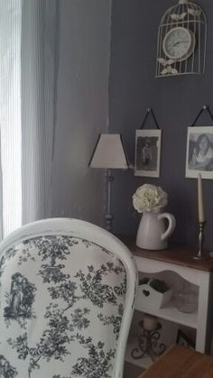 Nice corner of the dining room my grandchildrens pics made with wood mod podge lovely