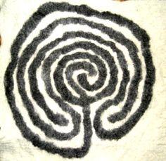 Celtic Labyrinth in Felt