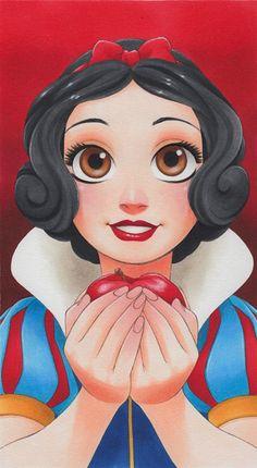 Manga Style Disney Princess by Chihiro Howe Snow White Manga Style Disney Princess von Chihiro Howe Schneewittchen Disney Pixar, Disney Artwork, Disney Princess Art, Disney Kunst, Disney Fan Art, Disney And Dreamworks, Disney Drawings, Disney Magic, Cartoon Drawings