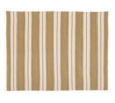 Conrad Stripe Recycled Yarn Indoor/Outdoor Rug - Neutral   Pottery Barn $249