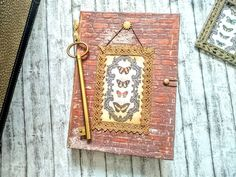 Mixed media journal.Vintage wall. Vintage Journals, Mixed Media, Pendant Necklace, Wall, Jewelry, Vintage Magazines, Jewlery, Jewerly, Schmuck