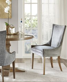 Madison Park Signature Ultra Dark Grey Dining Side Chair (Set of (As Is Item) x x - Dark Grey), Gray Gray Dining Chairs, Fabric Dining Chairs, Dining Room Bar, Kitchen Chairs, Upholstered Dining Chairs, Dining Chair Set, Side Chairs, Dining Area, Transitional Dining Chairs