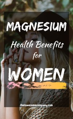 Magnesium is a vital nutrient for women's health and wellness. In this article you'll learn about the health benefits of magnesium for women, as well as some related questions about magnesium rich foods and magnesium deficiency symptoms. Brain Nutrition, Healthy Nutrition, Paleo Diet, Magnesium Benefits, Health Benefits, Bone Health, Women's Health, Health Foods, Magnesium Deficiency Symptoms