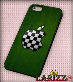 "Apple Logo Colors Chess Football Green for iPhone 4/4s, iPhone 5/5S/5C/6/6 , Samsung S3/S4/S5 Case ""08"""
