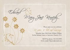 fifty wedding invitation Party Invitation Wording on Of 50th Wedding ...