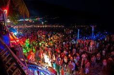 The Full Moon Party at Haad Rin Beach - Koh Phangan, Thailand. I heard this is the biggest party of the year Koh Phangan, Top Destinations, Holiday Destinations, Full Moon Party Thailand, Places To Travel, Places To See, Moon Beach, Sand Beach, World Festival