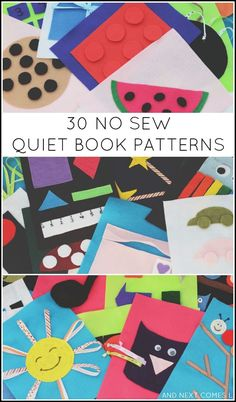 30 easy no sew quiet book patterns -- a new ebook #baby #quietbook #babydiy #quietbookdiy #babybook #toys Pinned by freebies-for-baby.com