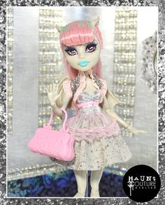 Monster Doll Set in Stone high fashion doll by HauntCoutureAtelier