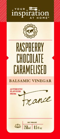 Raspberry Chocolate Caramelised Balsamic Vinegar A rich balsamic that can be paired with drinks or desserts or easily with meats and finishing sauces. A versatile must have! Shopping Cart www.lindapanko.yourinspirationathome.com.au Raspberry Chocolate, Balsamic Vinegar, Sauces, Caramel, Cart, Canning, Drinks, Desserts, Shopping