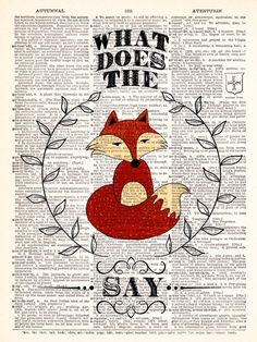 BOGO What Does The Fox Say By Ylvis by TheRekindledPage on Etsy