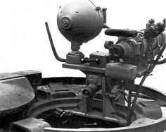 Rear detail photo of night vision equipment used on a late variant Panther