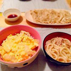 ☆親子丼 ☆肉うどん ☆ギョウザ - 6件のもぐもぐ - 6/2夜ご飯 by cchqm