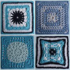 129. Blue white squares for Sibol by Karin aan de haak, via Flickr