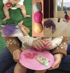 Jugando con las texturas en nuestros talleres de Estimulación Temprana