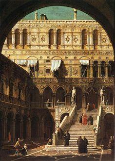 Scala dei Giganti, Canaletto. Italian (1697-1768)