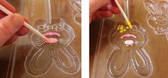 Good info on making colorful chocolate candies and lollipops in molds